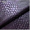 18春夏薄款新品广德隆纺织蛇鳞烫金服装面料烫金布