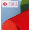厂家批发 大红色单面无纺底植绒布 ,对联剪纸灯笼大红植绒布